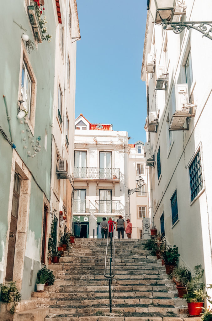Street of Alfama in Lisbon