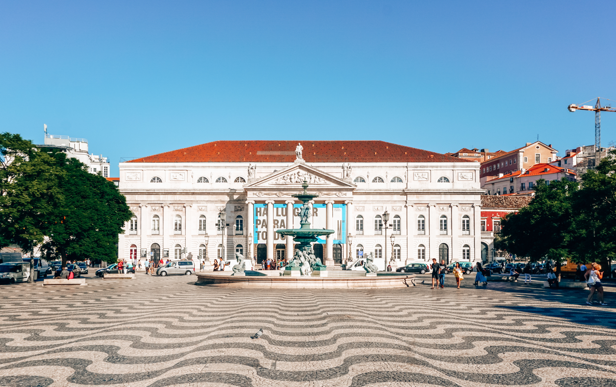 Dona Maria II National Theatre on Rossio Square in Lisbon
