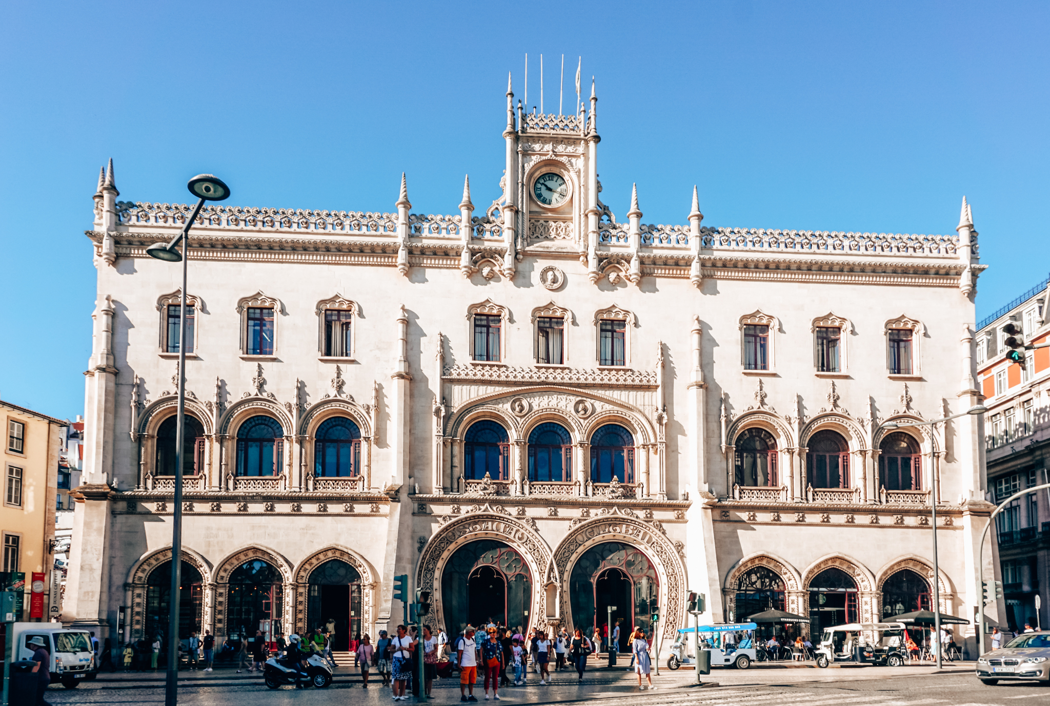 Rossio Railway Station in Lisbon