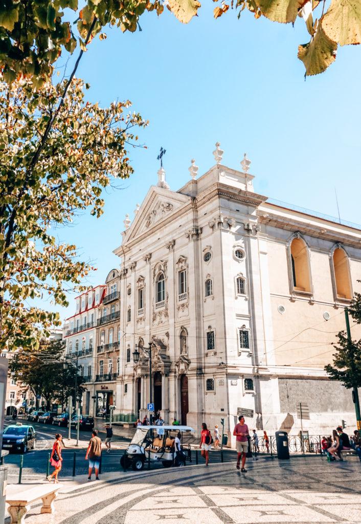 Igreja de Nossa Senhora da Encarnação, view from the Camões Square in Lisbon