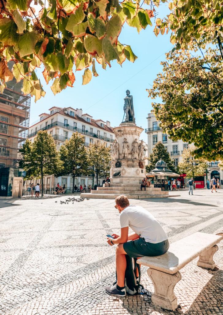 Praça Luís de Camões in Lisbon