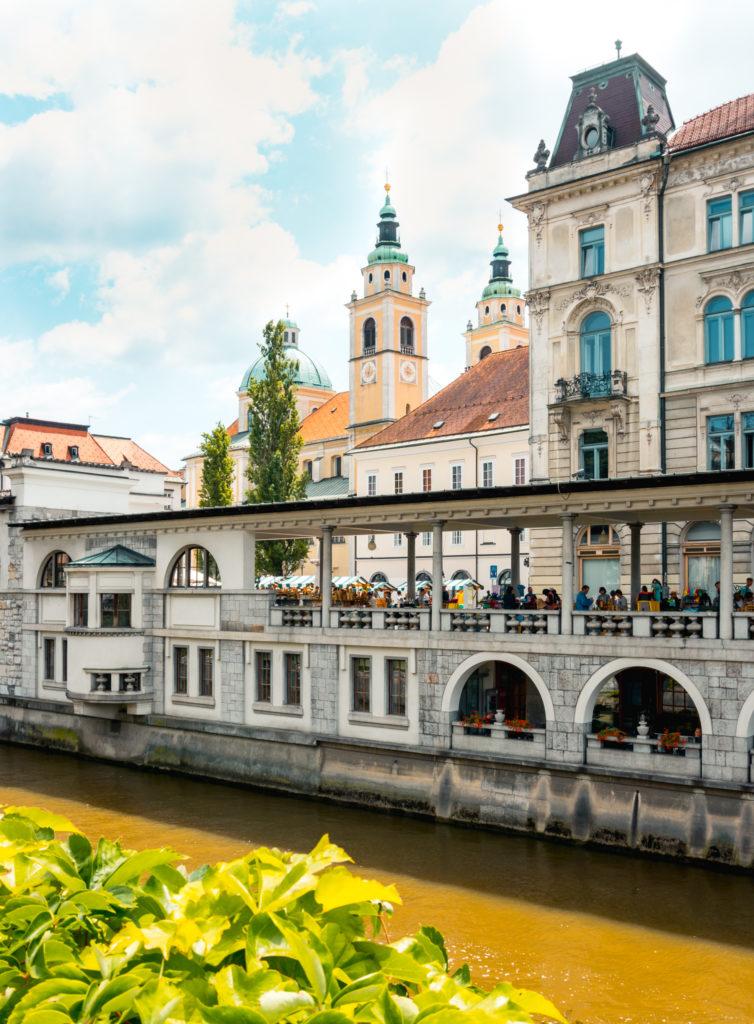 Ljubljana centre and river view, Slovenia