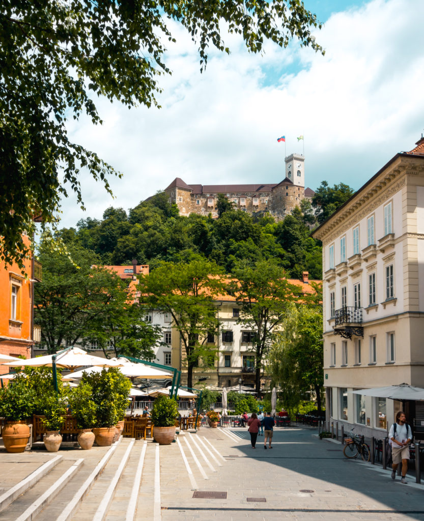 Ljubljana Castle up on the hill, Slovenia