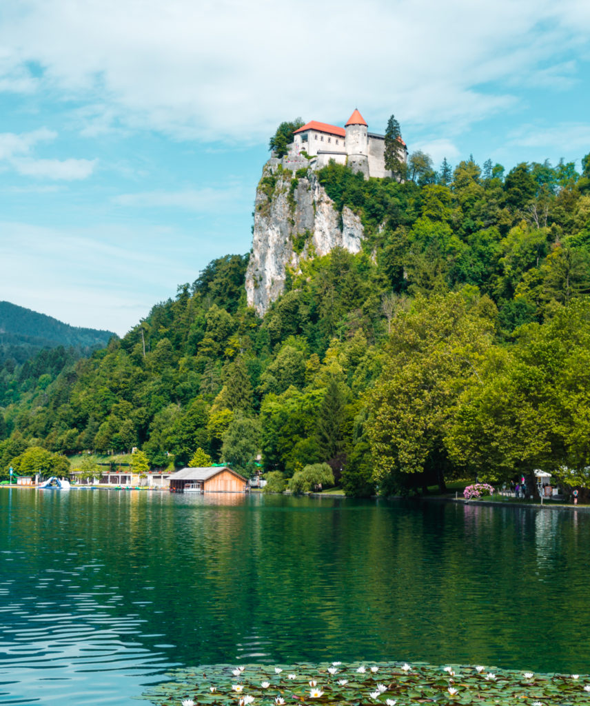 Bled Castle in Lake Bled, Slovenia