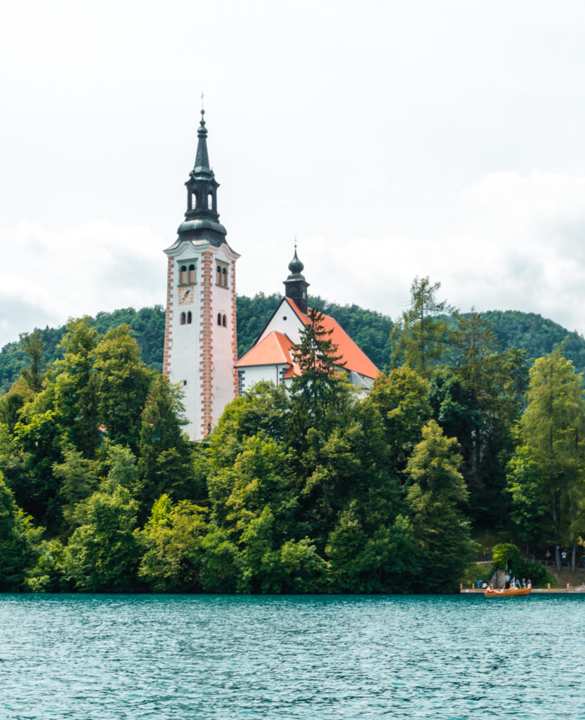 Church of Assumption of Mary in Lake Bled, Slovenia