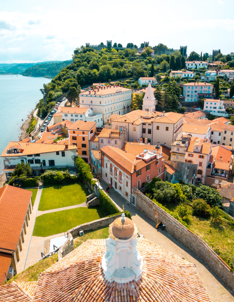 View from the Bell Tower in Piran, Slovenia