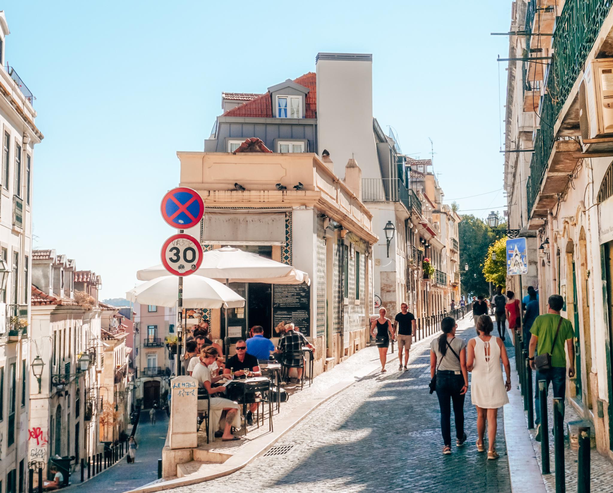Bairro Alto street in Lisbon