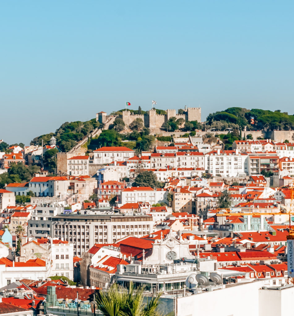 View of the Castelo de São Jorge in Lisbon