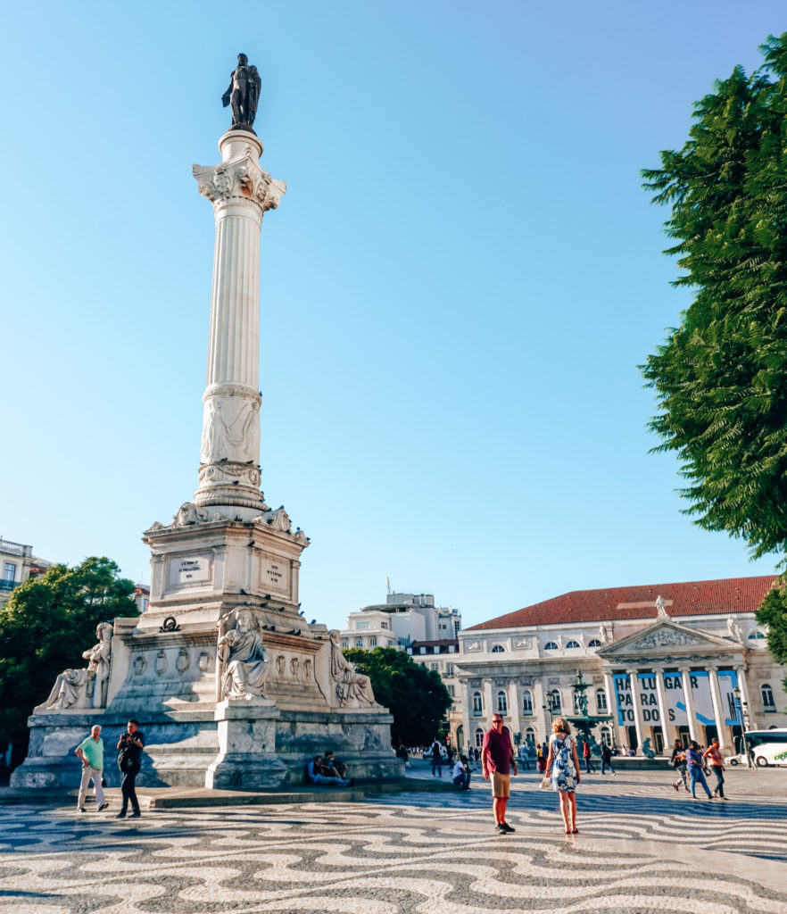 Rossio Square and the Column of Dom Pedro IV in Lisbon