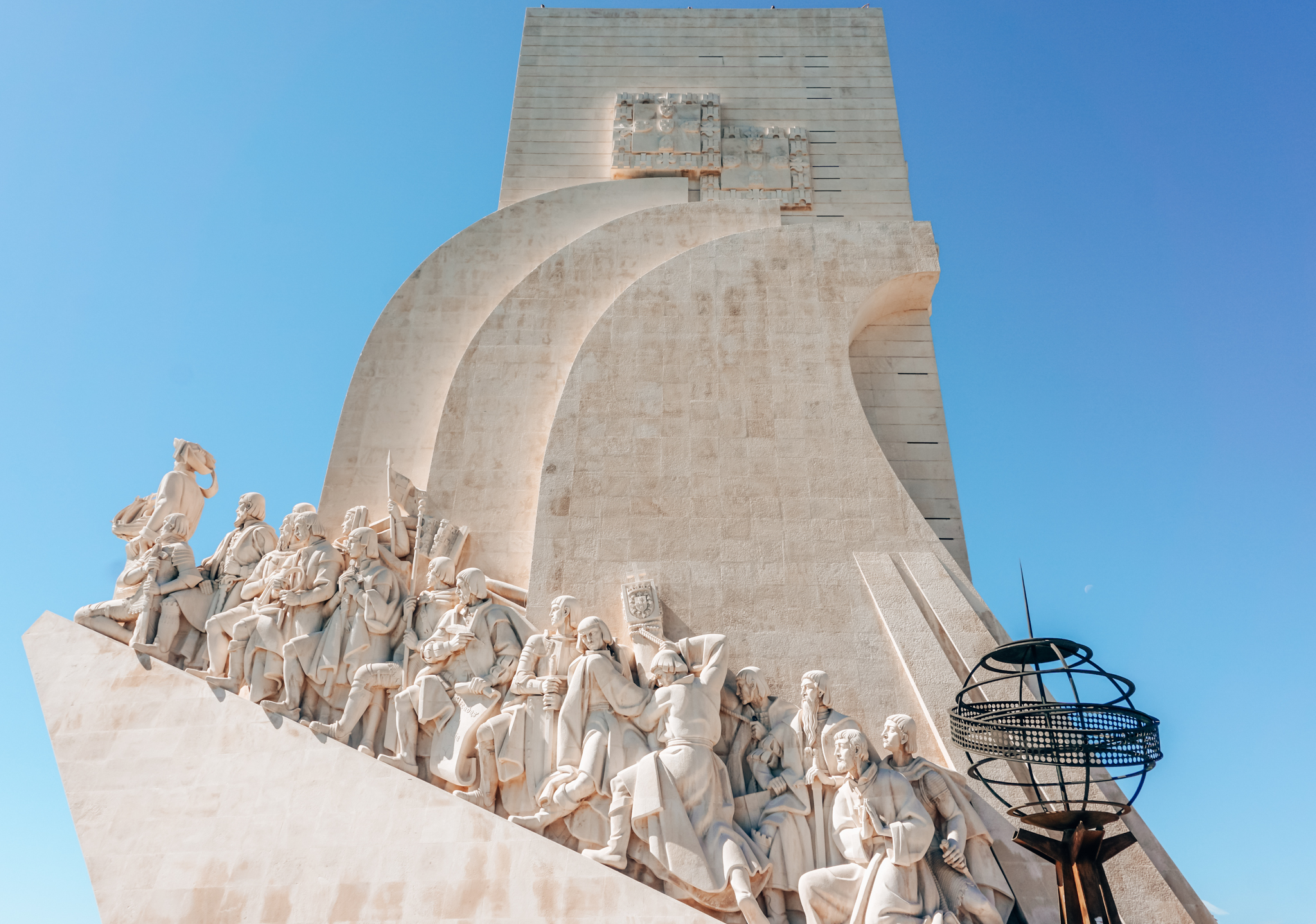 Monument to the Discoveries (east side) in Lisbon