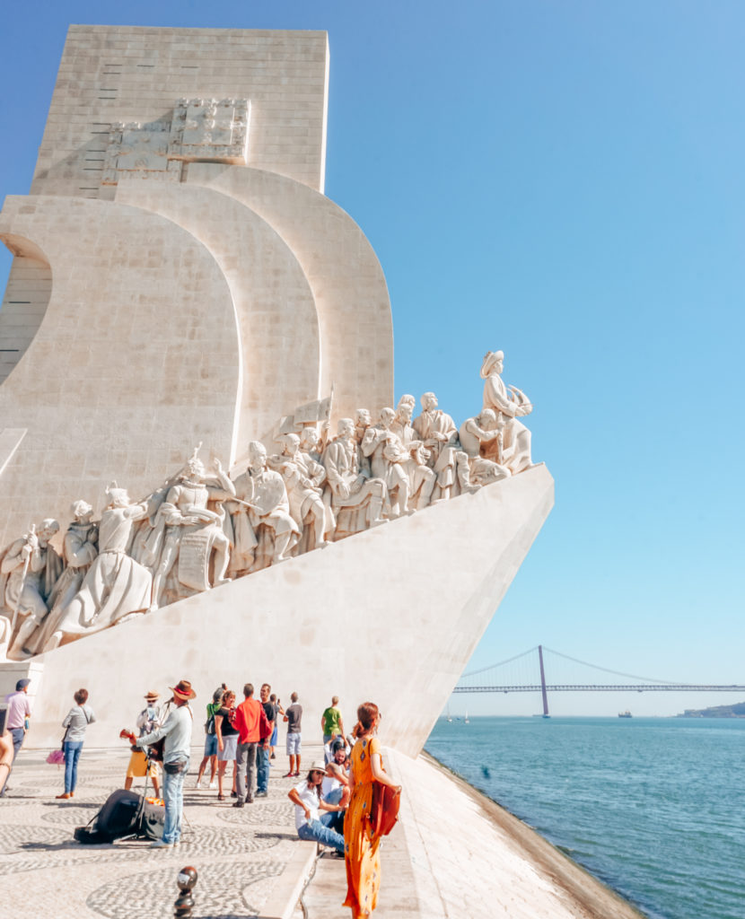 Monument to the Discoveries (west side) in Lisbon
