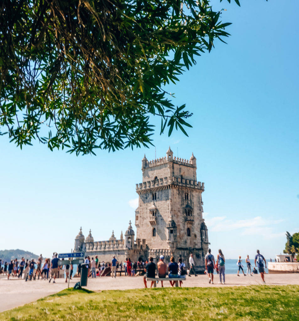 Belém Tower and park in Lisbon
